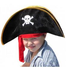 Шляпа Пирата с красной повязкой (детская) купить в интернет магазине подарков ПраздникШоп