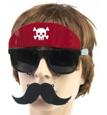 """Очки с усами """"Пират в бандане"""" купить в интернет магазине подарков ПраздникШоп"""