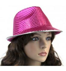 """Шляпа """"Твист"""" с паетками, розовая купить в интернет магазине подарков ПраздникШоп"""