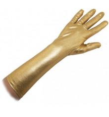 Перчатки атласные длинные (золото) купить в интернет магазине подарков ПраздникШоп