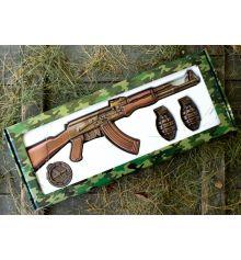 """Шоколадний набір """"Автомат АК-47"""" купить в интернет магазине подарков ПраздникШоп"""