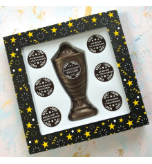 """Шоколадный набор """"Кубок с номинациями лучшему папе"""" купить в интернет магазине подарков ПраздникШоп"""