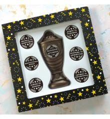 """Шоколадний набір """"Кубок з номінаціями кращої дружині"""" купить в интернет магазине подарков ПраздникШоп"""
