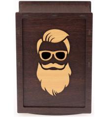 Barber box, коричневий купить в интернет магазине подарков ПраздникШоп