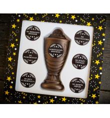 """Шоколадний набір """"Кубок з номінаціями найкращому вчителю"""" купить в интернет магазине подарков ПраздникШоп"""
