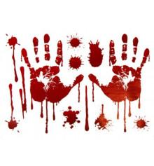"""Наклейки """"Кровавые следы руки"""" купить в интернет магазине подарков ПраздникШоп"""