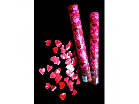 Пневмохлопушка с сердечками, 60 см купить в интернет магазине подарков ПраздникШоп