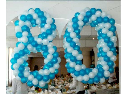 Плетеная цифра 80 купить в интернет магазине подарков ПраздникШоп