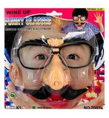 Очки с заводным механизмом (брови и усы шевелятся) купить в интернет магазине подарков ПраздникШоп