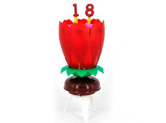 Свеча-лотос с цифрами купить в интернет магазине подарков ПраздникШоп