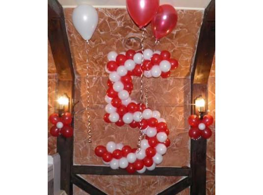 Плетеная цифра 5 купить в интернет магазине подарков ПраздникШоп