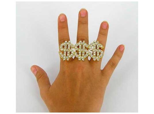"""Перстень с """"брюликами"""" $$$ купить в интернет магазине подарков ПраздникШоп"""