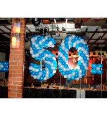Плетеная цифра 50 купить в интернет магазине подарков ПраздникШоп