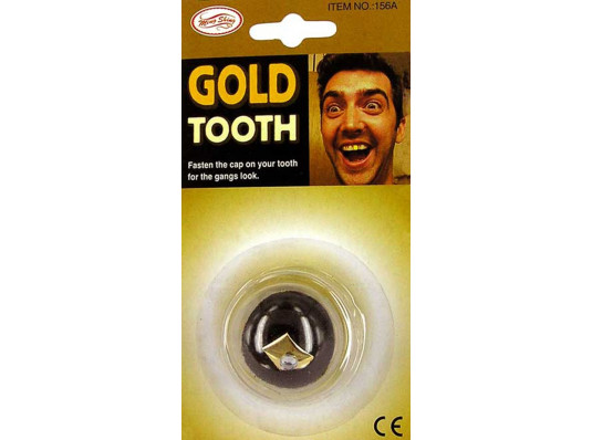 Золотой зуб с брюликом купить в интернет магазине подарков ПраздникШоп