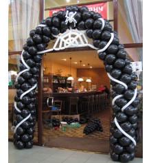 Арка в 4-е шара с паутиной купить в интернет магазине подарков ПраздникШоп