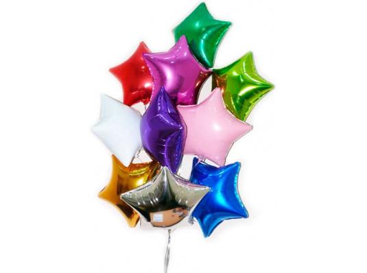 """Фольгированные звезды с гелием 18""""/45 см, 7 цветов купить в интернет магазине подарков ПраздникШоп"""