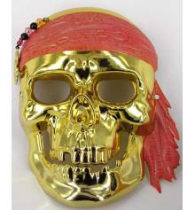 """Маска """"Пиратский череп"""" серебристый купить в интернет магазине подарков ПраздникШоп"""