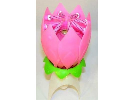 Свеча-лотос с факелом музыкальная купить в интернет магазине подарков ПраздникШоп