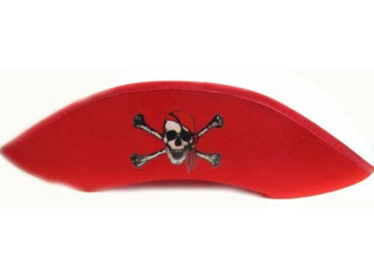 Треуголка пирата красная купить в интернет магазине подарков ПраздникШоп