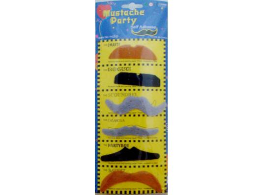 Усы накладные (6 шт) купить в интернет магазине подарков ПраздникШоп