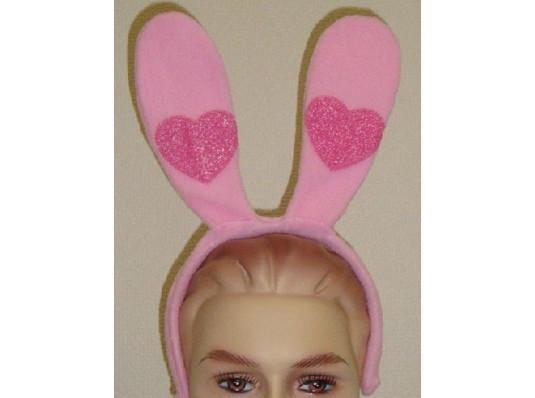 Ушки зайца с сердцем ( 2 цвета) купить в интернет магазине подарков ПраздникШоп