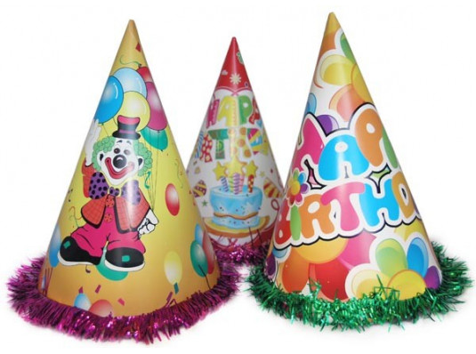 Колпак праздничный с дождиком 24 см купить в интернет магазине подарков ПраздникШоп