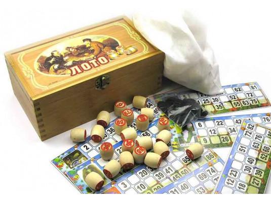 Лото в бамбуковой шкатулке купить в интернет магазине подарков ПраздникШоп