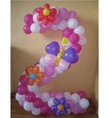 Цифра 2 из шариков. купить в интернет магазине подарков ПраздникШоп