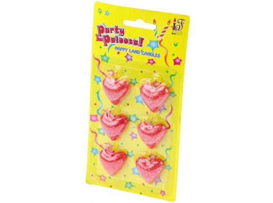 Свечи - сердечки купить в интернет магазине подарков ПраздникШоп