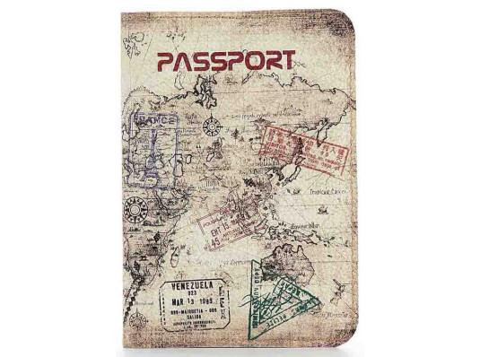 Кожаная обложка на паспорт путешественника купить в интернет магазине подарков ПраздникШоп