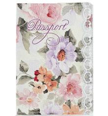 Кожаная обложка на паспорт Цветы купить в интернет магазине подарков ПраздникШоп