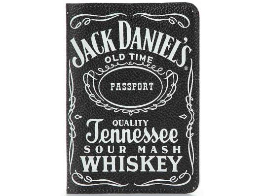 Кожаная обложка на паспорт Jack Daniel's (Джек Дениелс) купить в интернет магазине подарков ПраздникШоп