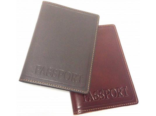 Кожаная обложка на паспорт с тиснением купить в интернет магазине подарков ПраздникШоп