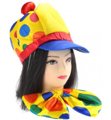 Шляпа + бант - клоунский набор купить в интернет магазине подарков ПраздникШоп