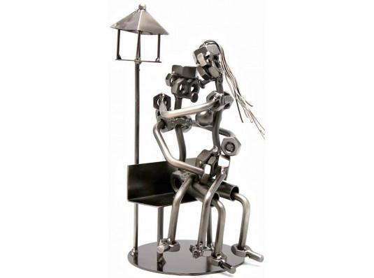 """Техно-арт статуэтка """"Влюбленные"""" купить в интернет магазине подарков ПраздникШоп"""