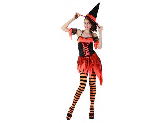 """Взрослый карнавальный костюм """"Ведьма тыквенная"""" купить в интернет магазине подарков ПраздникШоп"""