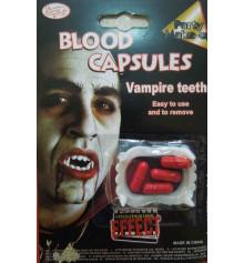 Зубы вампира белые с капсулами крови купить в интернет магазине подарков ПраздникШоп