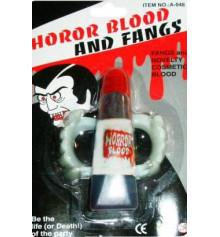 Зубы вампира с тюбиком крови купить в интернет магазине подарков ПраздникШоп