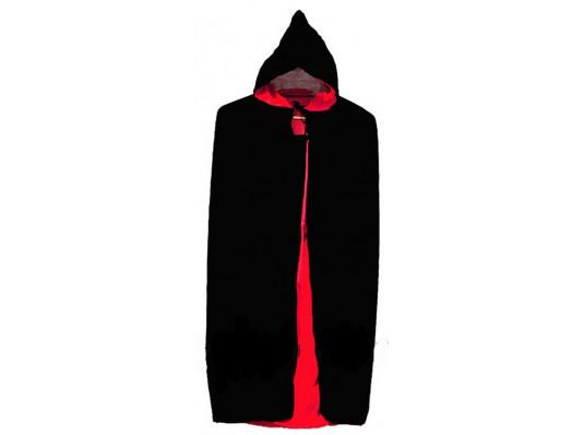 Плащ черный с красной подкладкой 100 см купить в интернет магазине подарков ПраздникШоп